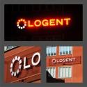Fasadskylt till Logent, skylt som en kameleont för maximal effekt