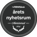 Djurens Rätt nomineras för sitt pressarbete i tävlingen Årets Nyhetsrum 2014