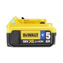 DEWALT ToolConnect DCB184B 5AH XR Battery Side