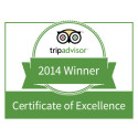 TripAdvisor Certificate of Excellence 2014 till Copperhill Mountain Lodge