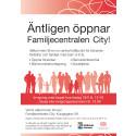 Inbjudan invigning Familjecentralen City Eskilstuna
