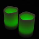 Blockljus med färgval och fjärr 3-pack-frilagd gröna