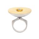Smyckekvaliten 25/4, Nr: 54, SIGURD PERSSON, ring, silver/guld, antikslipad diamant ca 0,25 ct