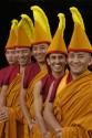 Tibetanska buddhistmunkar från Tashi Lhumpoklostret