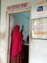 En kvinna som får hjälp på ARTH Udaipur, en av studieklinikerna. Foto: Mandira Paul