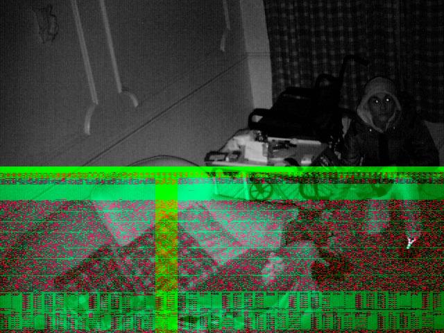 Footage from hidden camera