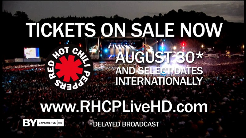 Red Hot Chili Peppers ger konsert i Tumba