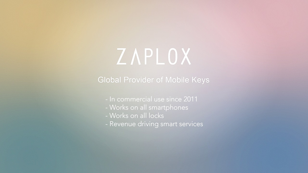 Get inspired by Zaplox mobile key solution - in just 12 seconds!