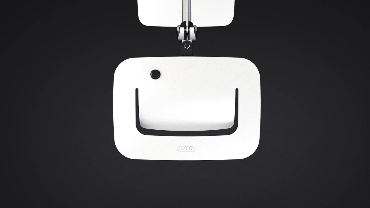SPLIT: LED-skrivebordslampe med mye lys for store arbeidsflater