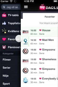 Demofilm för TVdags-appen