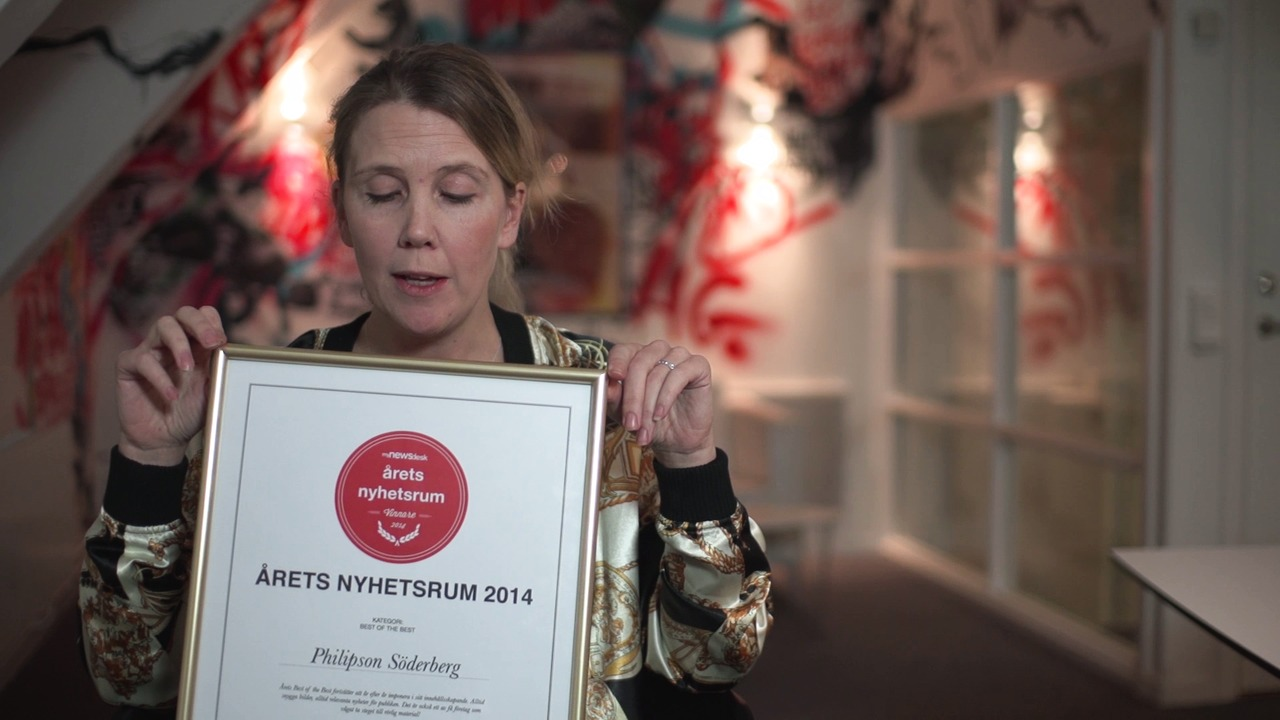 Philipson Söderberg blev Best of the Best i Årets Nyhetsrum 2014