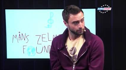 Måns och Jonas gästar Eurosport och pratar om Zelmerlöw & Björkman Foundation