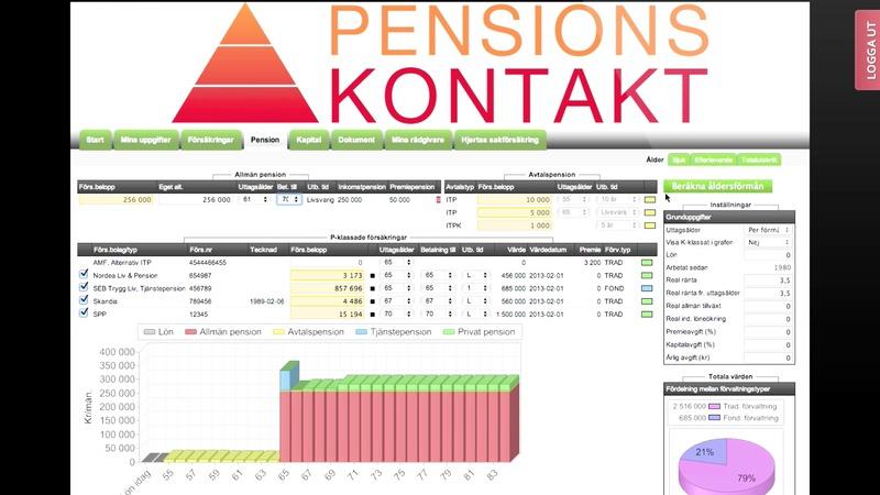 Se filmen om Pensionskontakt.se om hur enkelt det är att ta kontroll över din pension!