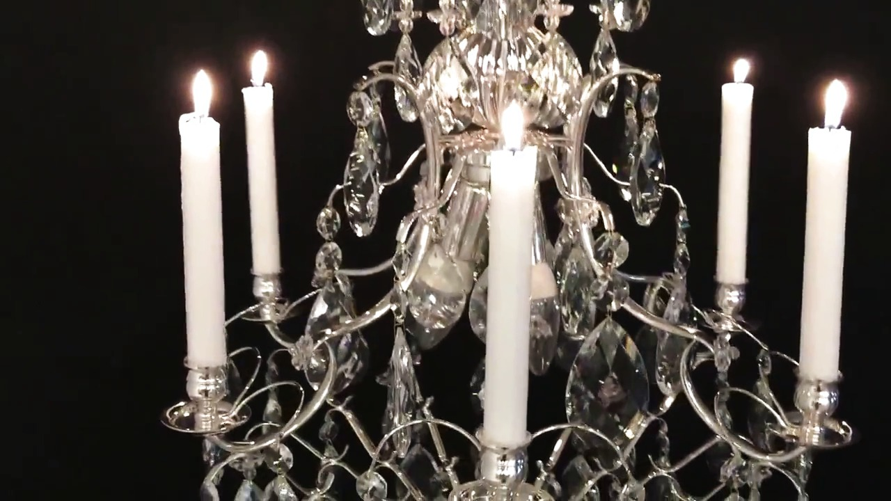 Silverpläterad barockkrona från Krebs