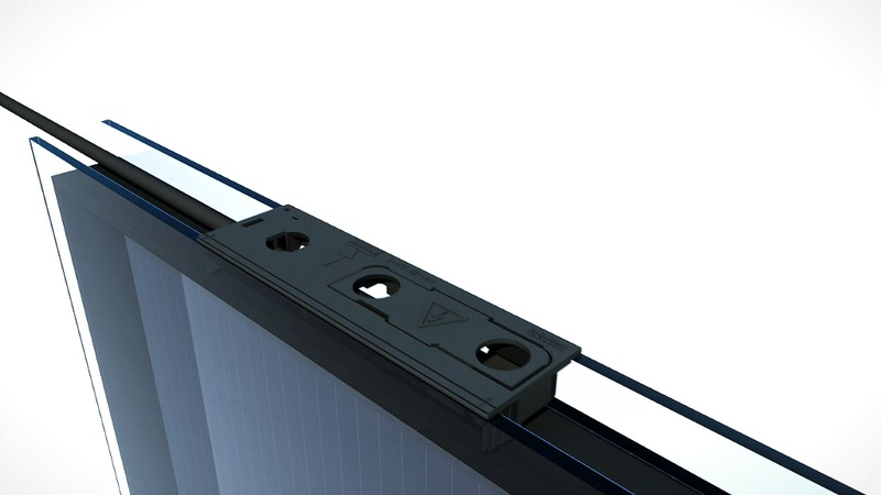 Minikontakt för fasadintegrerade solpaneler, BIPV