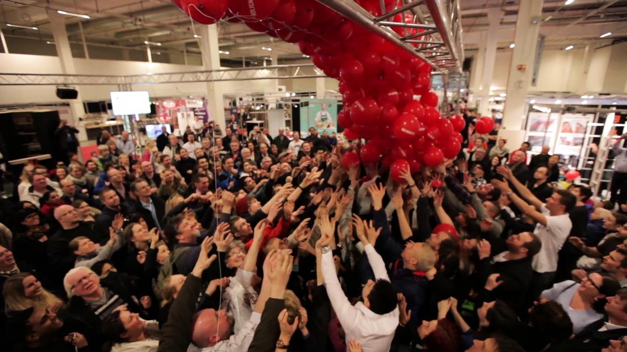 Ballongslipp med flotte premier er populært på boligmessene