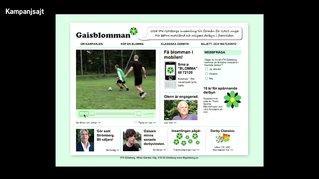 Nominerat bidrag i PR-kategorin Guldägget 2009: Gaisblomman