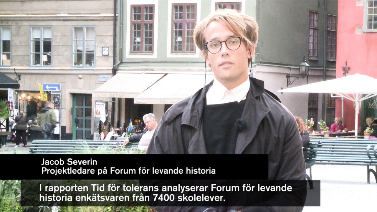 """VIDEOKLIPP Projektledare Jacob Severin om några resultat i nya studien """"Tid för tolerans"""""""