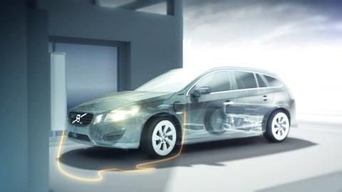 V60 Plug-In Hybrid, Charging animation (1:06)