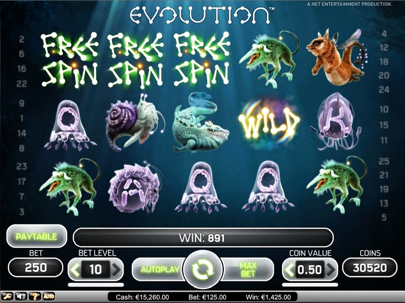 Evolution slot