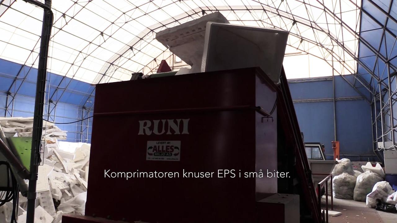 EPS på gjenvinningstasjonen