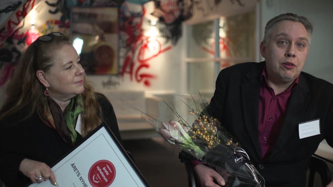 Sara Claesson och Göran Berselius från Stockholms stadsmuseum berättar vad som har gjorde att de vann Årets Nyhetsrum 2014