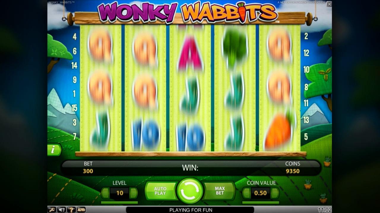 Wonky Wabbits slot at Vera&John