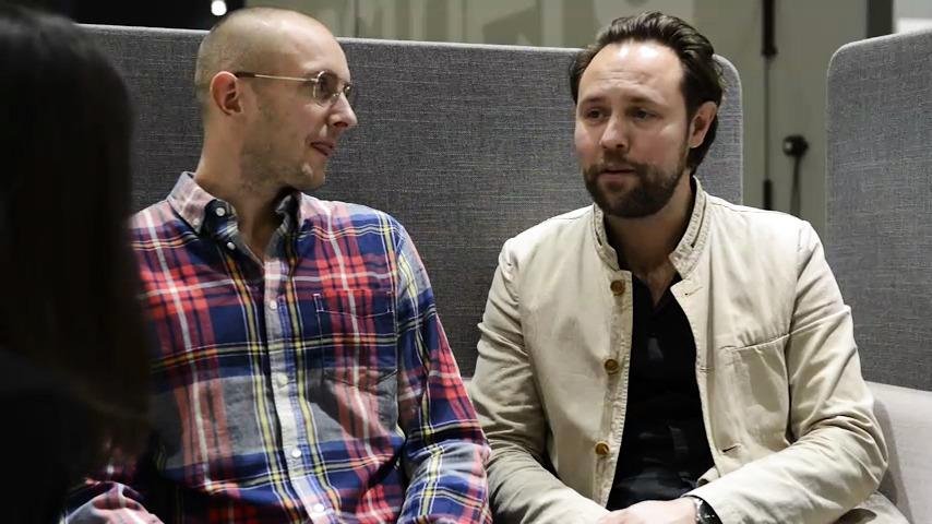 Intervju med Patrik Bengtsson & Pierre Sindre om serien POP för Gärsnäs. Stockholm Furniture Fair 2015