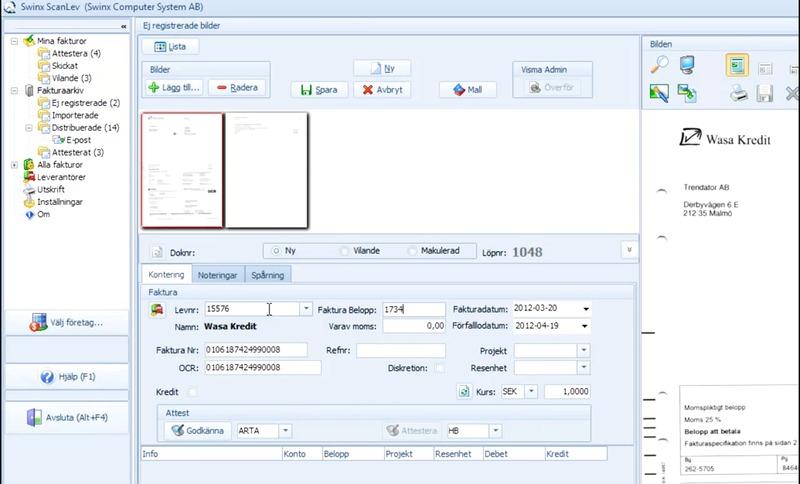 Delgodkänna leverantörsfakturor med Swinx ScanLev 3.0