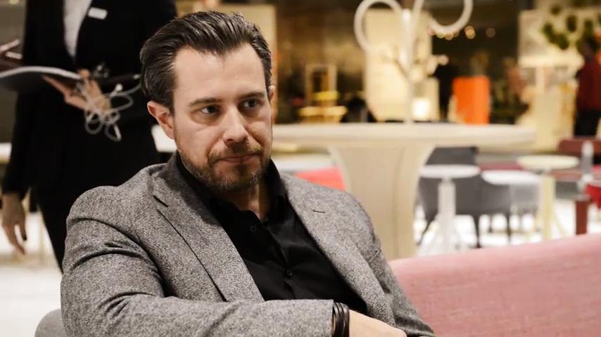 Intervju med David Regestam om bordet Kolonn för Gärsnäs. Stockholm Furniture Fair 2015