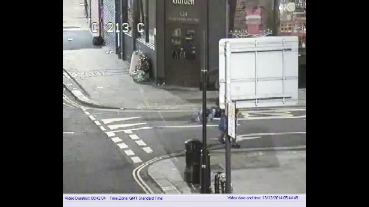 CCTV footage of the incident
