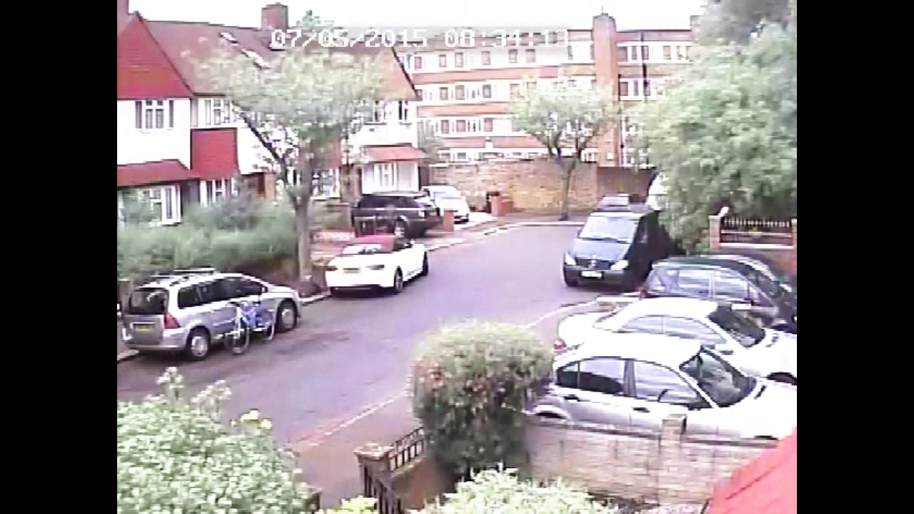 Man caught on CCTV breaking into cars