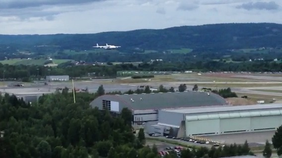 Video fra landingen av Antonov AN-225