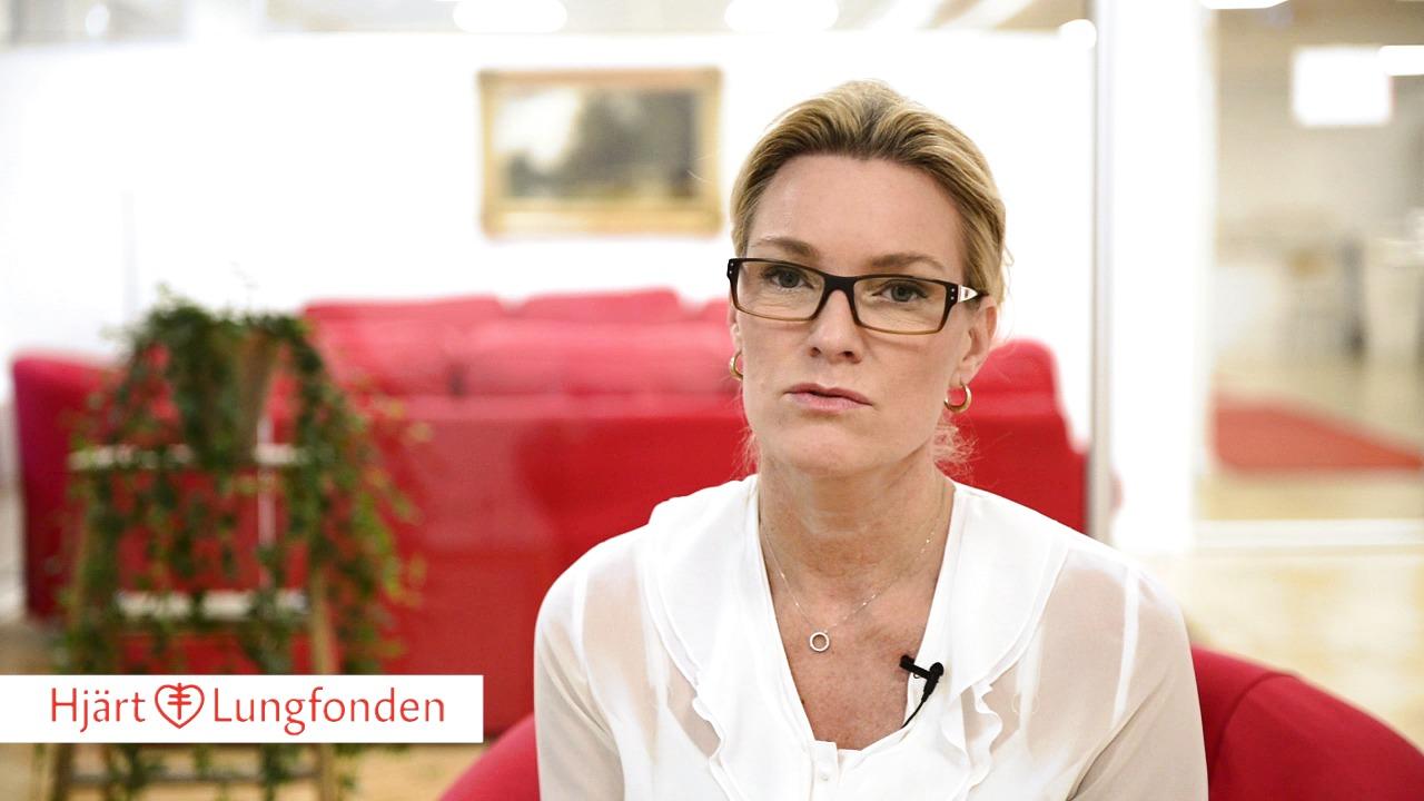 Kristina Sparreljung, generalsekreterare för Hjärt-Lungfonden, om forskningen betydelse