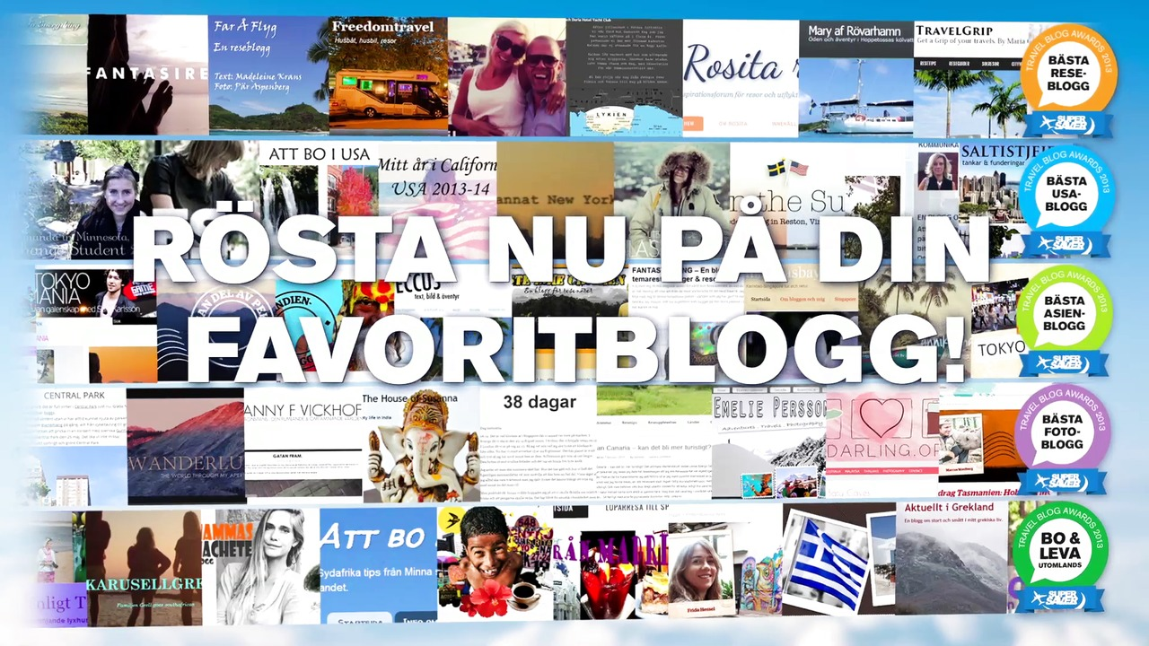 Travel Blog Awards 2013 - Finalisterna klara