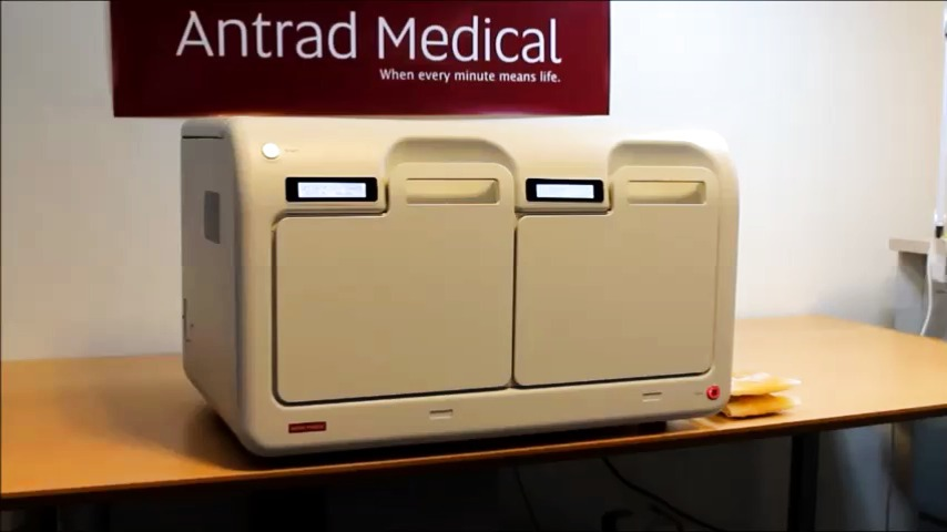 Thawing of  fresh frozen plasma in 5 minutes with Antrad UFT 100 from Antrad Medcial AB