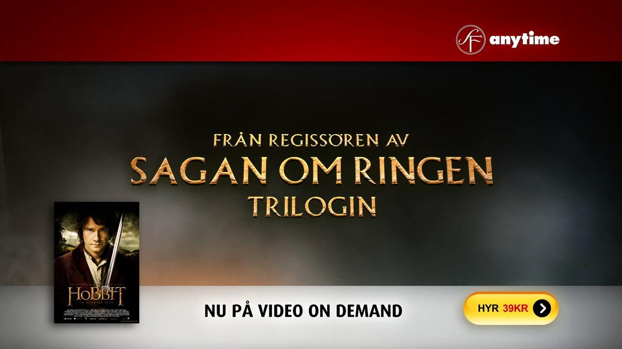 SF Anytime tv-reklam för Hobbit - En oväntad resa