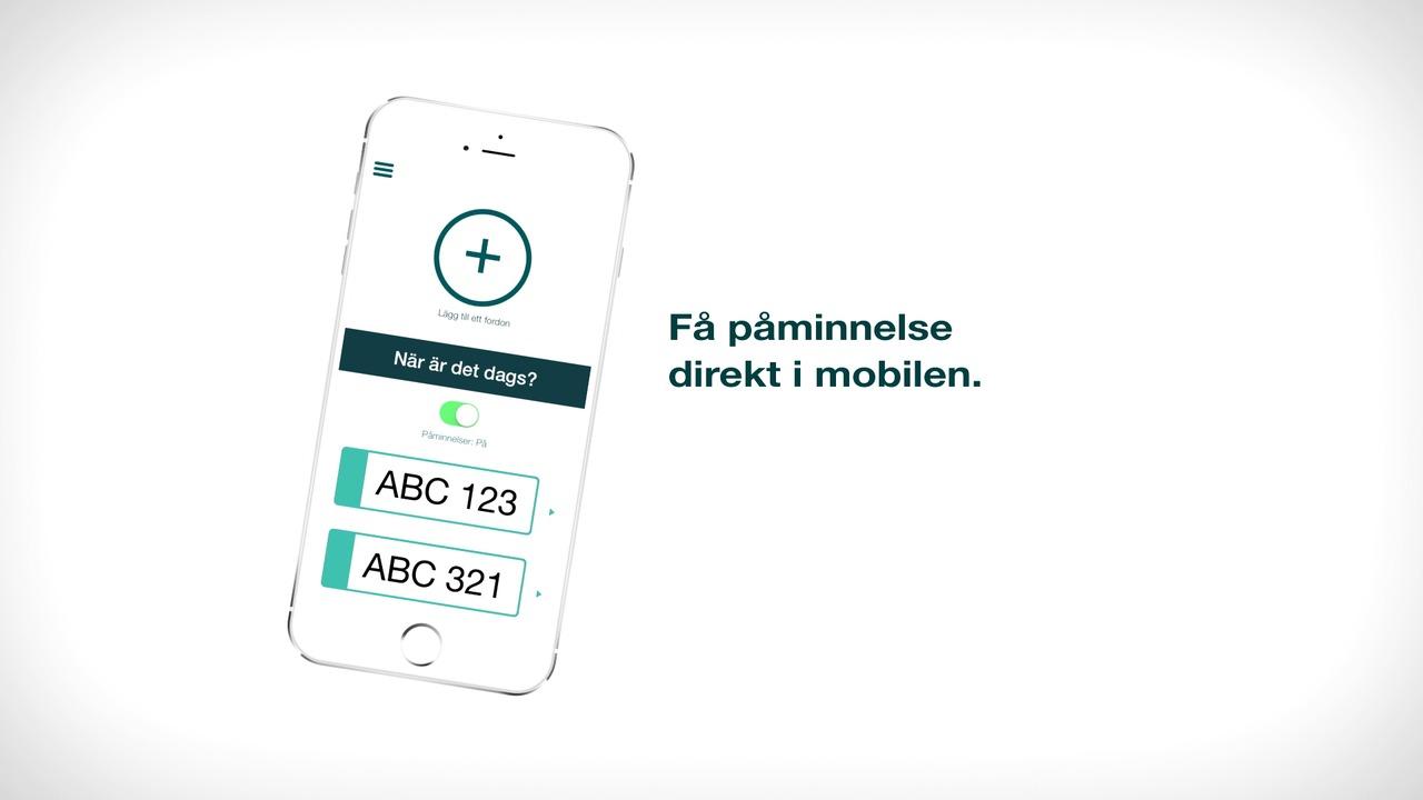 Påminnelse när det är dags att besikta - Opus Bilprovning-appen