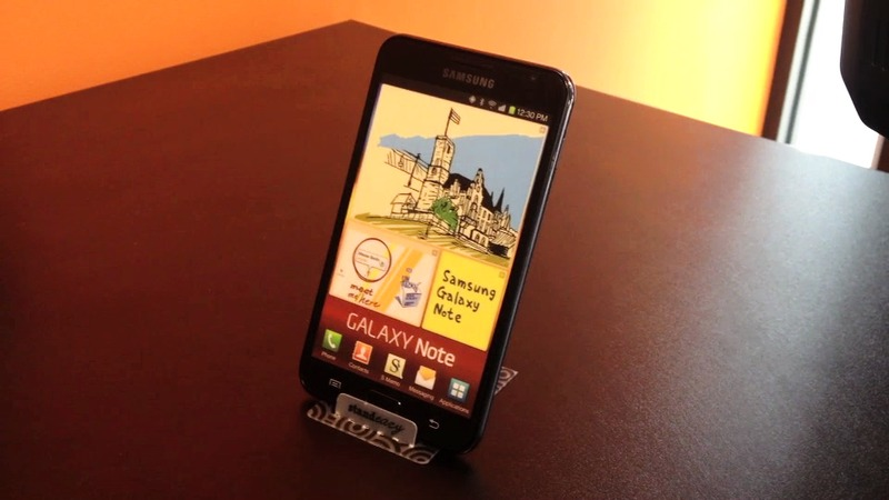Standeazy smartphone stand tested with the Samsung Galaxy Note