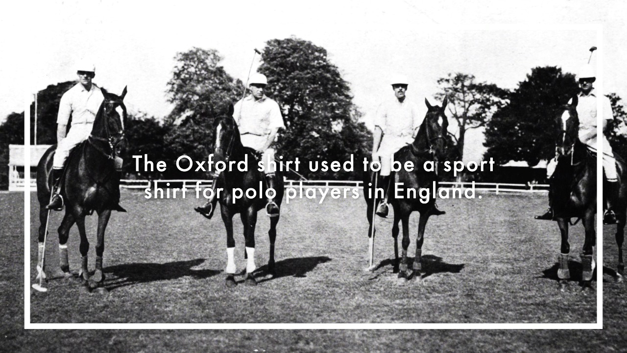 The History of the Oxford Shirt