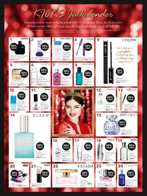 Dolce And Gabana Light Blue KICKS Julkalender – 24 luckor med skönhetsfavoriter till ...