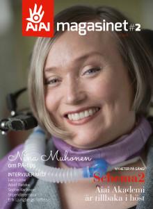 AiAi magasinet 2 , omslagsbild på Nina Muhonan