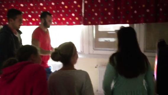 Dansande Brynässpelare på Sörbyskolan