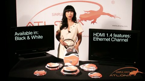 Atlona's Flat HDMI 1.4 Cables