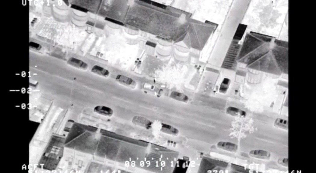 Police footage from the air
