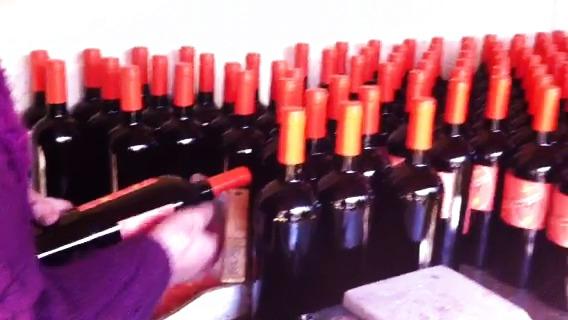 Antiyal - här etiketteras och packas flaskorna!