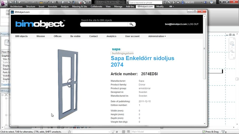 BIMobject Talks - BIMobject extension (app) - for Autodesk Revit 2013