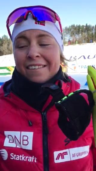 Intervju med Ingrid Landmark Tandrevold etter andreplass på normal ungdom kvinner, Junior-VM, Minsk