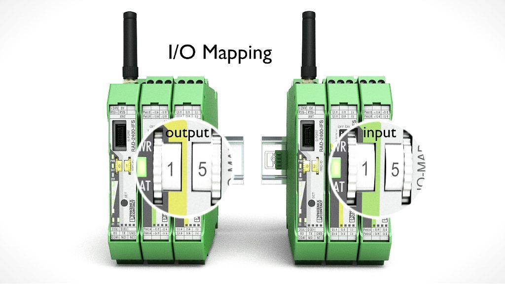 Trådlöst signalöverföring för seriell och I/O (analoga och digitala) expanderbart