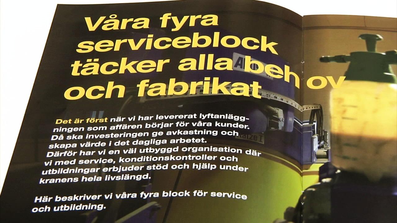 ABUS nyhetsfilm om fyra serviceblock